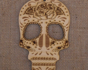 Wooden sugar skull decoration Day of the Dead ~ Dia de los Muertos