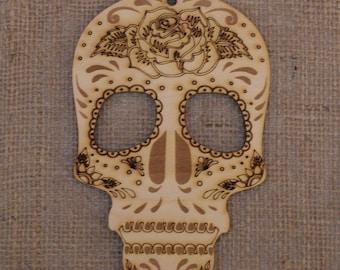 Wooden sugar skull decoration Day of the Dead ~ Dia de los Muertos