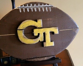 Georgia Tech wooden football