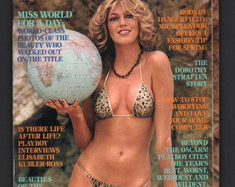 Mature Vintage Playboy Mens Girlie Pinup Magazine : May 1981 VG+ White Pages Intact Centerfold
