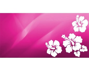 Pink Hibiscus Flower Photo License Plate - LPO1013