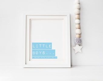 Wall art print - Ready to frame print - Little boys