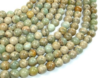 Aqua Terra Jasper Beads, 8mm Round Beads, 15.5 Inch, Full strand, Approx 50 beads, Hole 1 mm, A quality (281054026)
