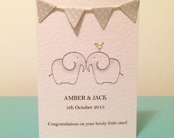 Double trouble! Personalised new born twins
