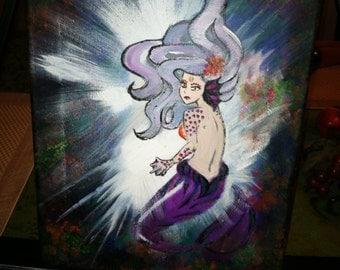 "Original Acrylic Painting ""Deep Submerge"""