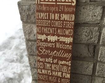 Nana and papa's house rules