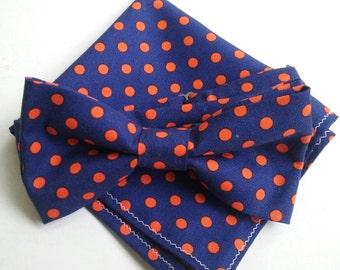 Blue and Orange Polka Dot