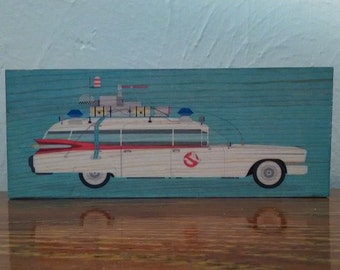 Ghostbusters Car/Ecto-1 - Handmade Wooden Sign