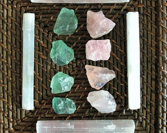 Love Crystal Grid, Love Crystals and Stones w/ Reiki