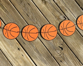 Basketball Garland | Basketball Banner | Basketball Decor | Basketball Decoration | Basketball Birthday | Sports Birthday