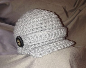Baby Crochet Newsboy Hat