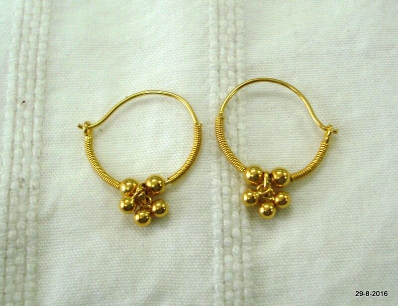 traditional design 20kt gold earrings upper ear earrings