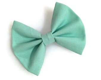 Solid Mint Fabric Bow