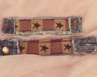 Denim Star Bracelet