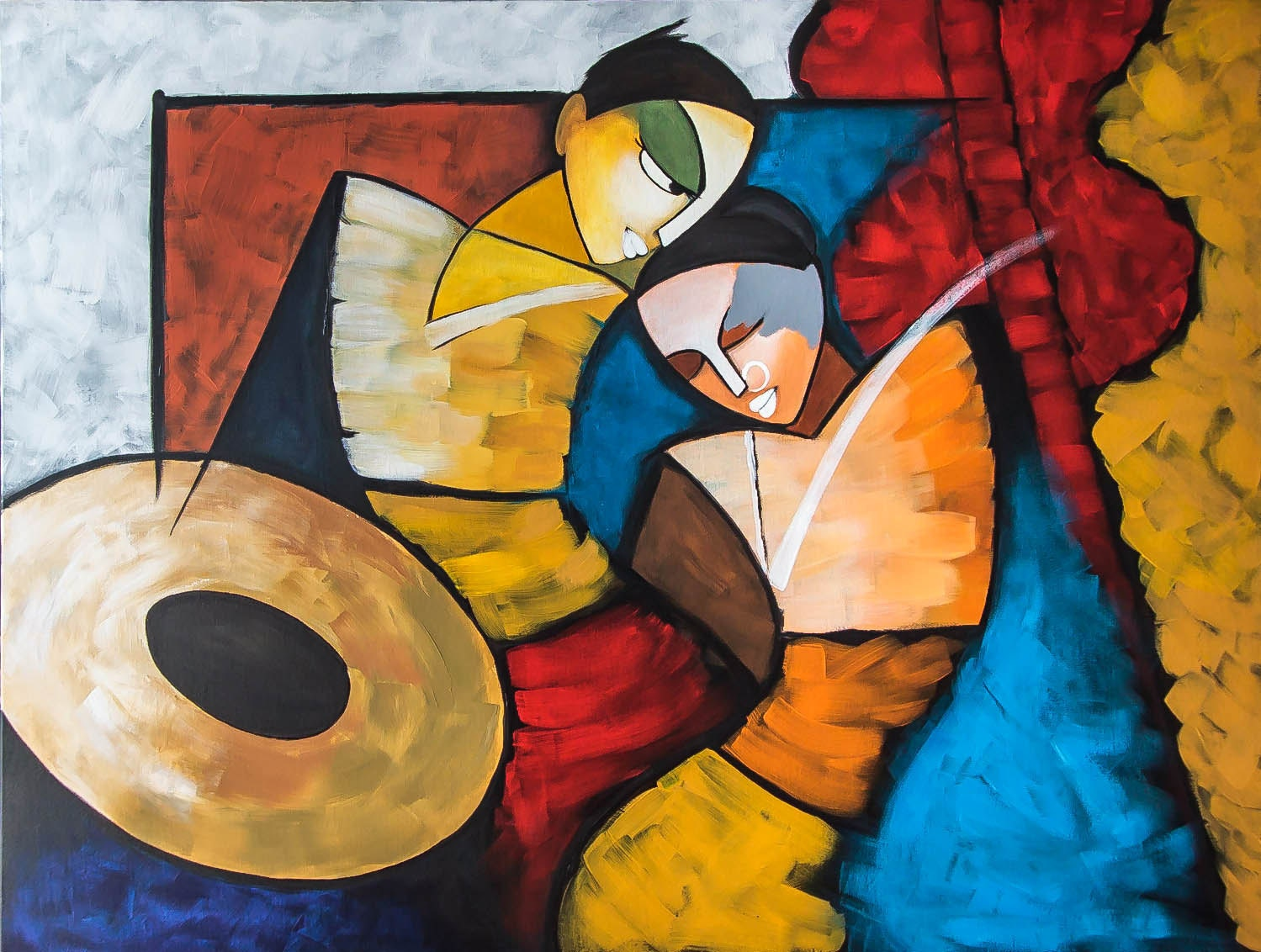 Indian Contemporary Art Modern Painting Radha Krishna