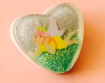 Glitter Faerie Brooch Pin