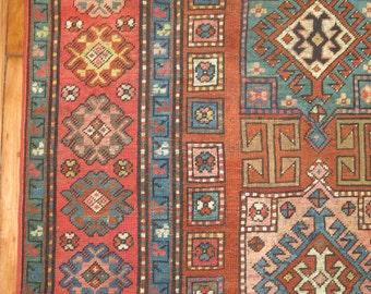Antique Caucasian Karabagh Rug Size 3'10''x6'7''