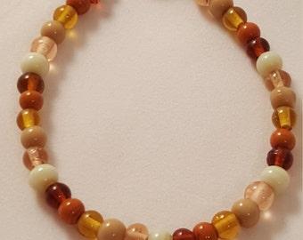 On Sale Now - Autumn Glass Bead Bracelet - Women's Bracelet - Women's Autumn Bracelet - Glass Bead Bracelet - Women's Glass Bead Bracelet