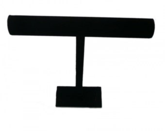 "New Velvet Jewelry Necklace Bracelet T-Bar Display Stand 12"" Height Black....Free Shipping in US!"