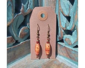 Handmade wooden boho earrings.
