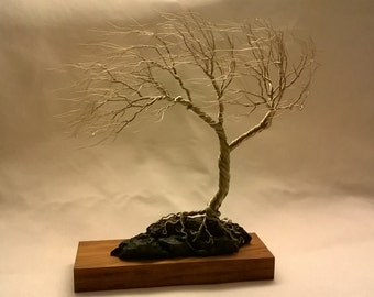 Wire Tree Sculpture Art