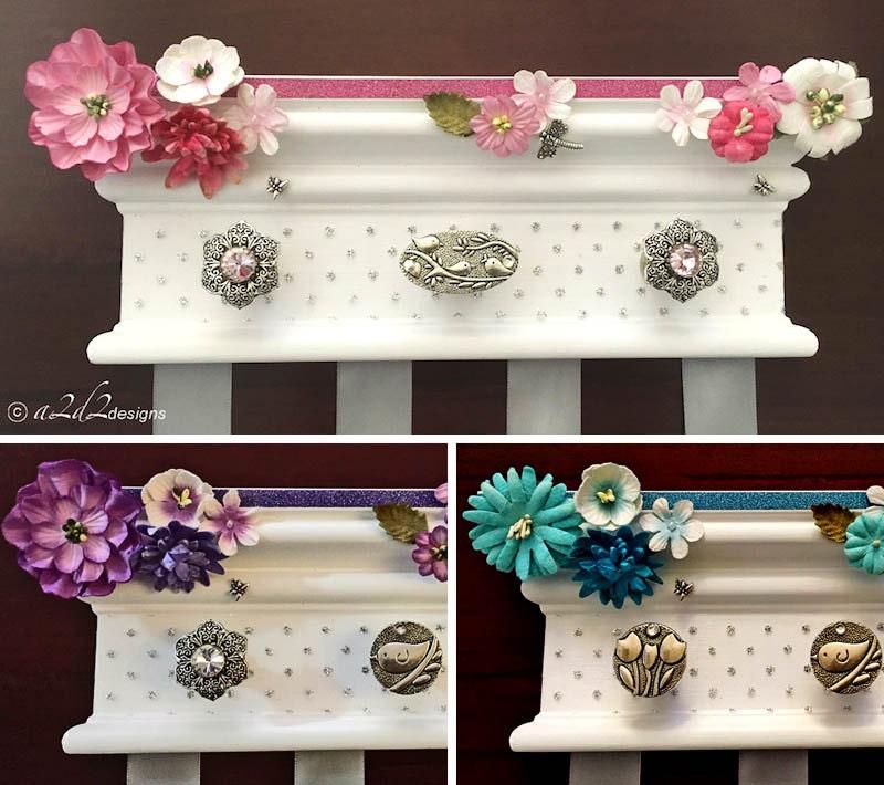 hair bow holder hair accessory organizer girls bow holder. Black Bedroom Furniture Sets. Home Design Ideas