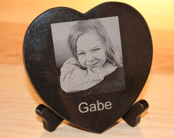 Cute gift,Black Granite Heart.Heart of stone.Great for lover and wedding gift.