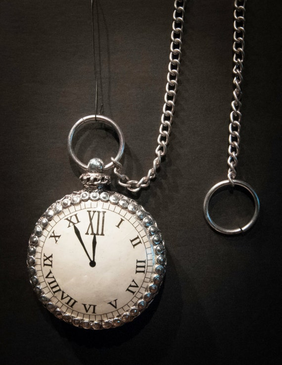 Silver Pocket Watch Holiday Ornament