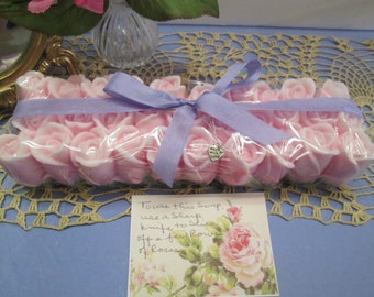 Entire loaf of Rose Soap  unforgettable gift for birthday, wedding , Mother's day- color & scent choice, fancy soap, loaf soap, handmade