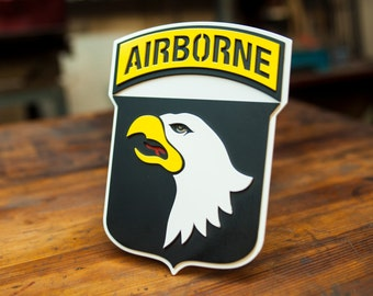 101st Airborne Trailer Hitch Cover - 3D - Steel - Powder Coated