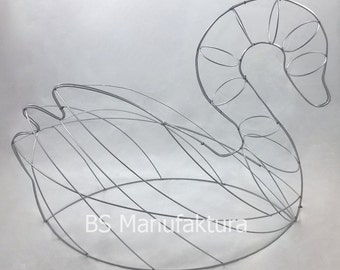 Topiary metal wire frame SWAN 70cm