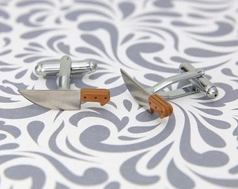 ON SALE Knife Butcher Cufflinks Sword Cooking