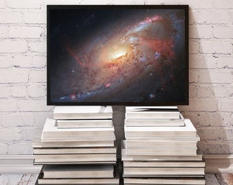 Spiral Galaxy poster Universe decor Space print