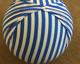 Birth Ball Cover with Handle, Exercise/Yoga Ball Cover, Birthing Ball Cover, Ball Cover - BLUE STRIPES