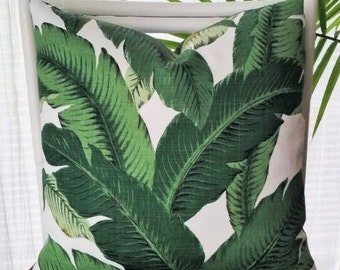Tommy Bahama Swaying Palms Outdoor Pillow Cover - tropical, palm leaf, banana leaf, island decor, Caribbean, beach decor, Palm Beach