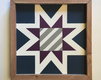 Virginia Traditional State Quilt Block Painting