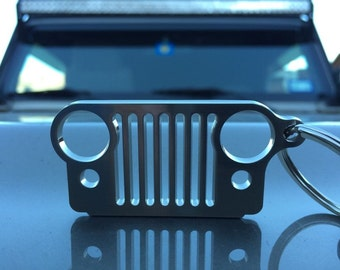 Jeep Grill Keychain Stainless Steel