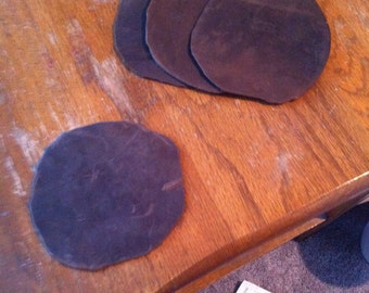 Leather costers