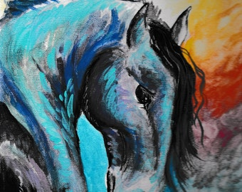 Print of Painting ~ War Horse