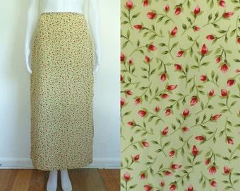 35%offJuly21-24 90s silk skirt size small 6, the limited boho midi floral print skirt, 1990s lightweight preppy designer flower skirt