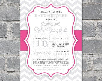 Custom Baby Girl Shower Invitation (5x7) DIGITAL FILE