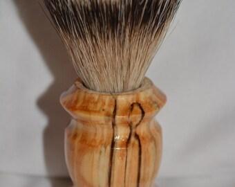 Beautiful Handmade Spalted Pacific Alder Shaving Brush