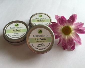 Lip Balm  Natural Handcrafted - Unscented