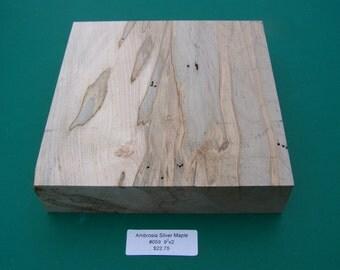 """9"""" square x 2"""" - Ambrosia Maple Blank (KD)"""