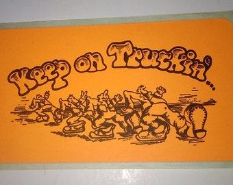 Keep on truckin sticker