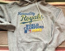 Vintage Kansas City Royals 1985 World Series champs Hoodie grey S