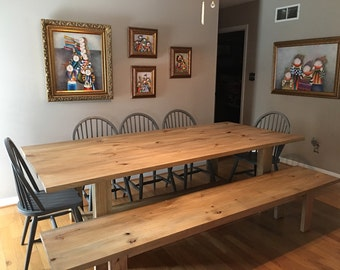 Rustic Farmhouse Table with 1 matching bench