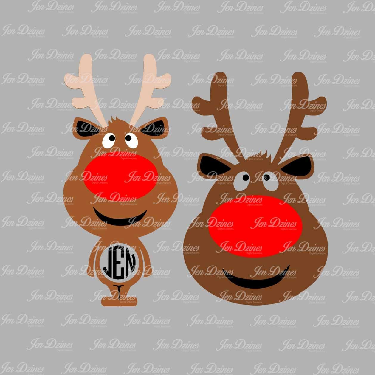 Reindeer Svg Dxf Eps Reindeer Files Christmas Svg Christmas