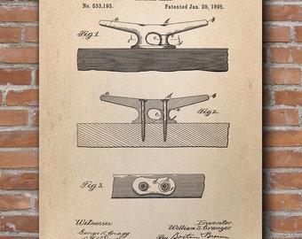 Nautical Cleat Patent Print, Nautical Print, Nautical Poster, Nautical Decor, Patent Poster - DA0611