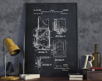 Reflex Camera Patent Print, Camera Print, Retro Camera, Wall Art Print - DA0006